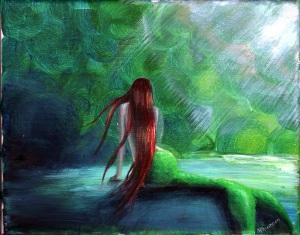 mermaid on sea floor