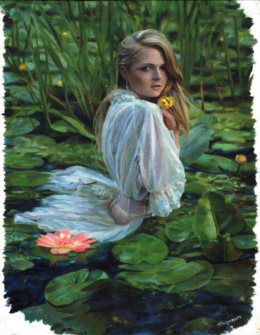 Lady in the Lily Pads small